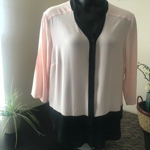 Blush Button down Blouse